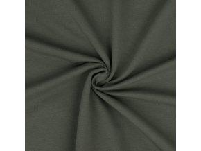 teplakovina elasticka khaki metraz