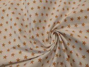 bavlna hvezdy bezove na bile zatocene