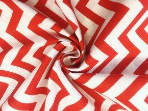 bavlnene platno cerveny chevron4