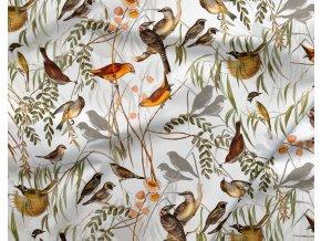 bavlneny saten ptaci ve vetvich