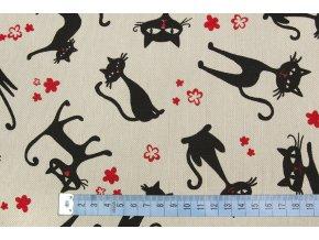 bavlna režná kočky.