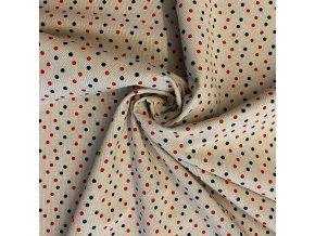 bavlna rezna puntiky cervene a modre