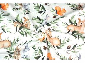 teplakovina zajici veverky a srnci