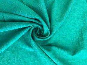 lnena tkanina pavi zelen uvod