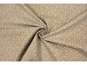 bavlnene platno bile kyticky na bezove1