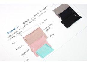 Vzorník jednolíc úpletů bavlna modal