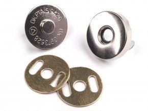 Magnetické zapínání tenké průměr 14 mm nikl