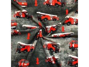 jednolic bavlneny hasici na cerne 1