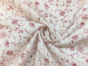 bavlnene platno cibulakovy vzor cerveny na bile2