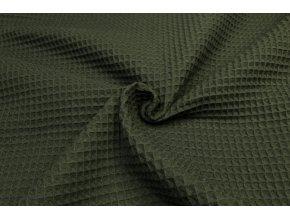bavlna vafle khaki