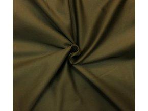 khaki strecova tkanina kalhotova