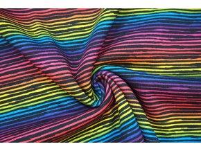 teplakovina pocesana neonove barevne prouzky1