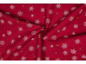 bavlnene platno ruzne vlocky na cervene