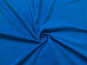 Bavlněný úplet středně modrá1