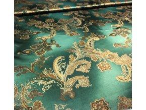 umele hedvabi silky armani bezova melaz se zlatymi kasmirovymi ornamenty l