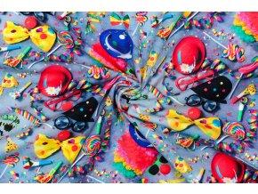 bavlneny uplet jednolic karneval digi tisk
