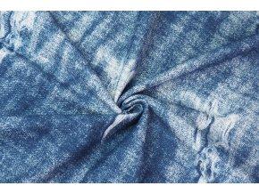 Teplákovina jeans trhaná