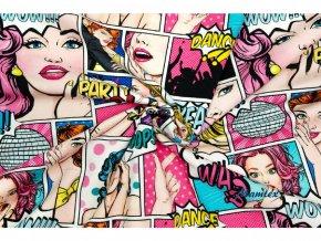 bavlnene platno komiks dance 2