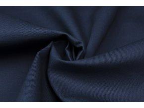 bavlnena tkanina s keprovou vazbou tmave modra