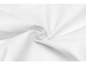 bavlnena tkanina s keprovou vazbou bila