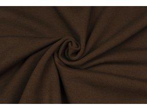 teplakovina elasticka cokoladove hneda 290 g m2