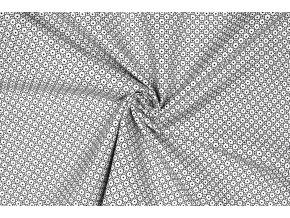 bavlnene platno puntiky v geometrickych kruzich