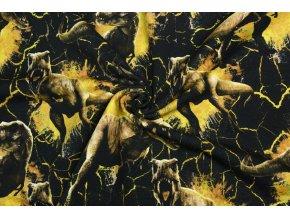 teplakovina jursky svet s dinosaury zluti