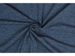 Teplákovina jeans melé 290 g/m2