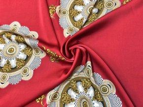 umele hedvabi silky zlate ornamenty v kruhu na vinove svetle