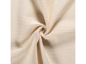 bavlna vafle smetanove