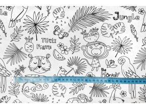 bavlnene platno na vybarvovani tropic 1