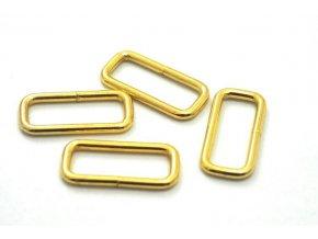 Průvlek 10x20 mm zlatý