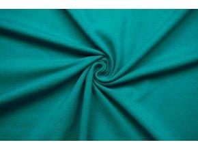 bio bavlneny uplet jednolic smaragd 200 g m2 1