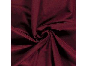 bio bavlneny uplet jednolic tmave cervena 200 g m2