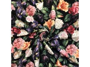 teplakovina kvety na cerne 1