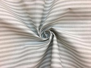 bavlnene platno belave sedy prouzek 1