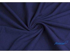bavlneny uplet modra navy 100 bavlna 150 g m2 1