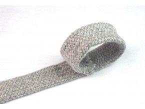 Bavlněná šňůra dutinka 1,8 mm šedá