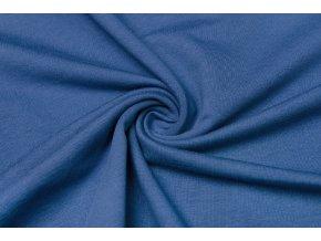 teplakovina elasticka modra jeans 240 g