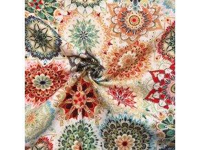 bavlna rezna kvetinove mandaly barevne 1