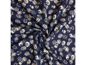 bavlna platno kraslice na modre