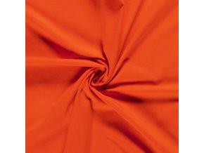 bio bavlneny uplet jednolic tmave oranzova 200 g m2
