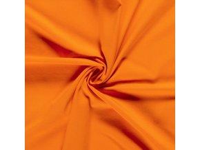 bio bavlneny uplet jednolic oranzova 200 g m2