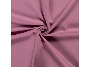 bio bavlneny uplet jednolic tmava lila 200 g m2