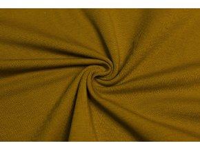 bio bavlneny uplet jednolic okrova 200 g m2