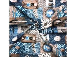 bavlnene platno patchwork ocean 3