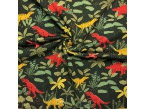 teplakovina dinosauri v pralese na tmave zelene 1
