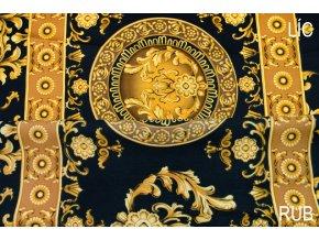 umele hedvabi silky armani jednostrana bordura ornamentu na cerne 1