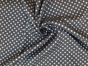bavlnena tkanina strecova bile puntiky na svetle jeans
