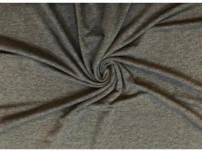 teplakovina elasticka tmave sede mele 220 g m2